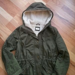 Forever 21 Military Army Green Utility Jacket - M